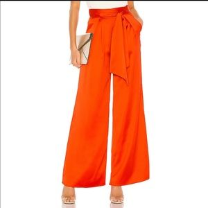Lovers + Friends Euclid Pant in Fire Orange
